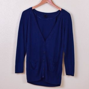 H&M Navy Blue Cardigan with Pockets size Large